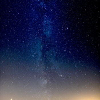 Milky Way above the Zittau Mountains